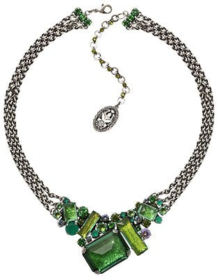 necklace To Katharine With Love II green antique silver