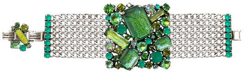 bracelet To Katharine With Love II green antique silver