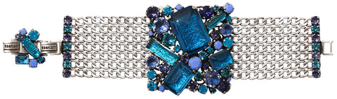 bracelet To Katharine With Love II blue antique silver