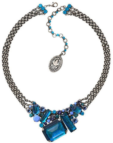 necklace To Katharine With Love II blue antique silver