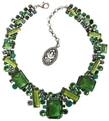 necklace collier To Katharine With Love II green antique silver