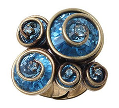 ring Classic Twist blue antique brass