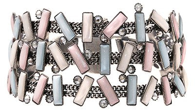 bracelet Small Tones Beating pastel multi antique silver