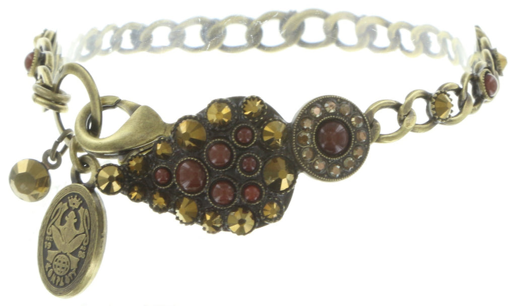 bracelet Queen of Elves brown antique brass