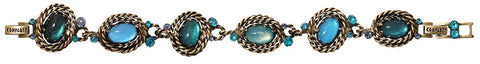 bracelet Twisted Lady blue antique brass