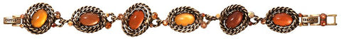 bracelet Twisted Lady orange antique brass