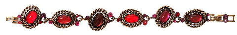 bracelet Twisted Lady red antique brass