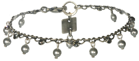 bracelet Pearl Shadow grey antique silver