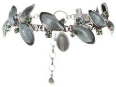 bracelet Blossoms of the Past green Very Light Antique Silver