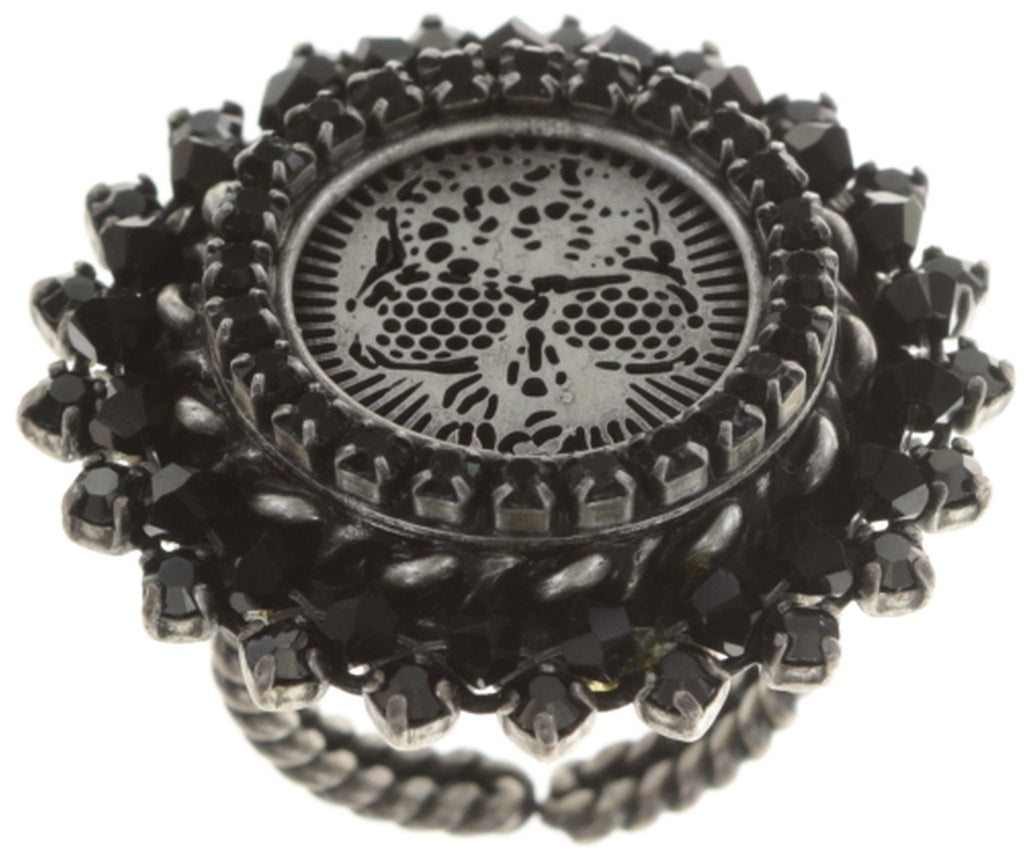 ring Sinners and Saints black antique silver