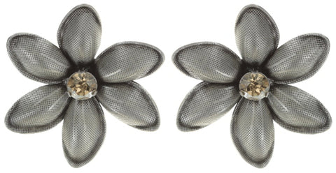 earring eurowire Blossoms of the Past beige antique silver
