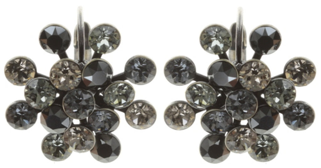 earring eurowire Magic Fireball grey antique silver Classic Size (21mm Ø)