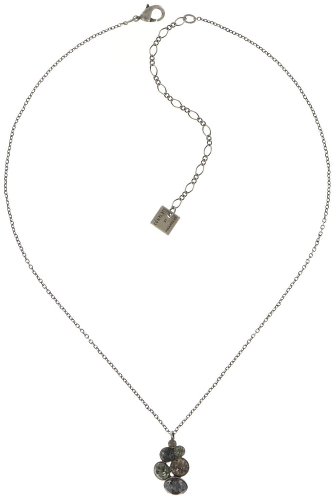 necklace pendant Petit Glamour grey antique silver