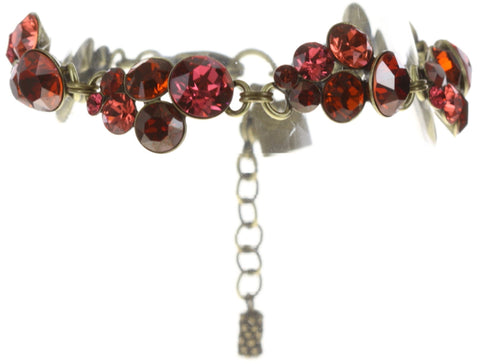 bracelet Petit Glamour red antique brass
