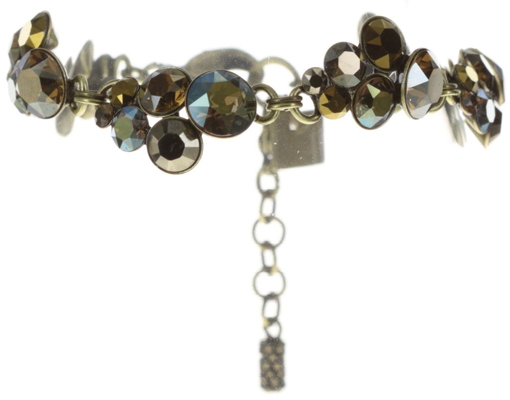 bracelet Petit Glamour green antique brass