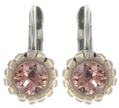 earring eurowire Kaleidoscopic pink antique silver