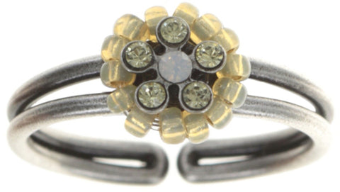ring Kaleidoscopic beige antique silver