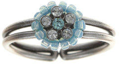 ring Kaleidoscopic blue antique silver