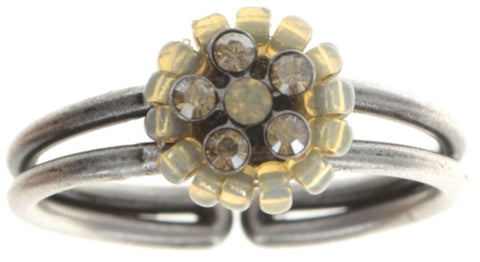 ring Kaleidoscopic brown antique silver