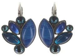 earring eurowire Dance with Navette blue antique silver
