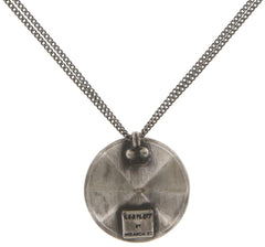 necklace pendant Tea Time white antique silver