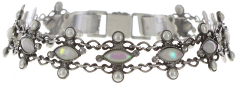 bracelet Filigree white antique silver