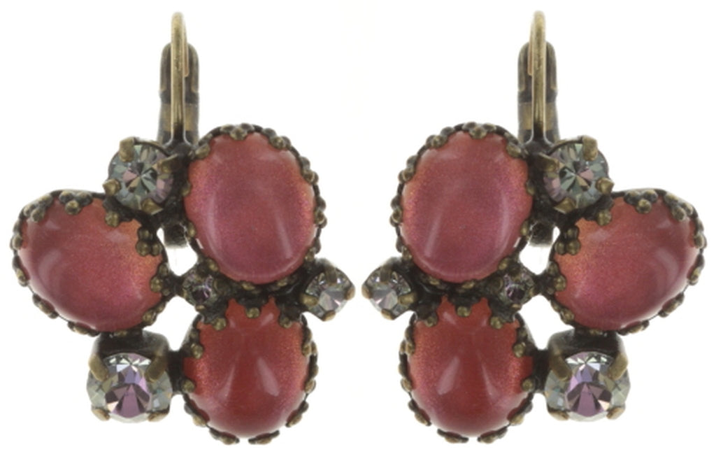 earring eurowire Orchid Hybrid orange antique brass
