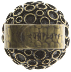 ring Orchid Hybrid green antique brass