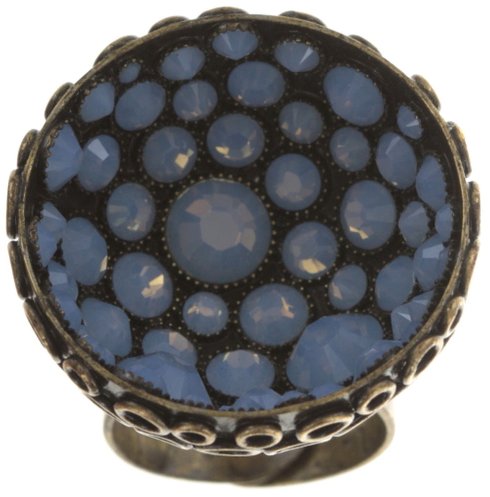 ring Orchid Hybrid blue antique brass