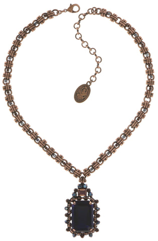 necklace-Y Aztec lila antique copper