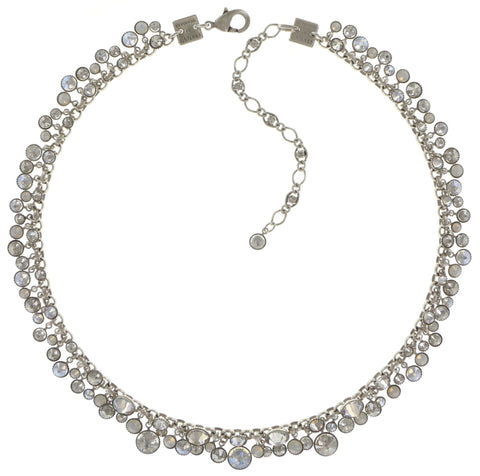 necklace Waterfalls white shiny silver