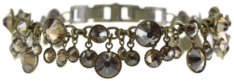 bracelet Waterfalls beige shiny brass