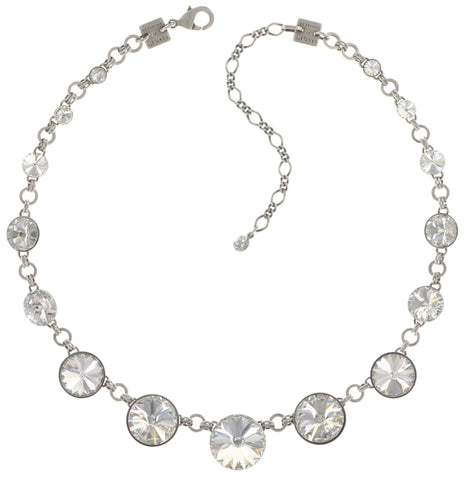 necklace Rivoli white shiny silver