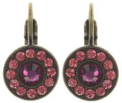 earring eurowire Spell on You coralline/dark rose antique brass