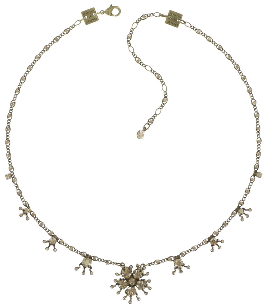 necklace Petit Four de Fleur beige shiny brass