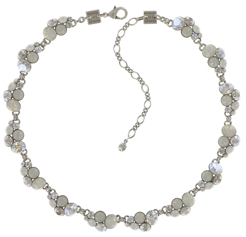 necklace collier Petit Glamour white shiny silver