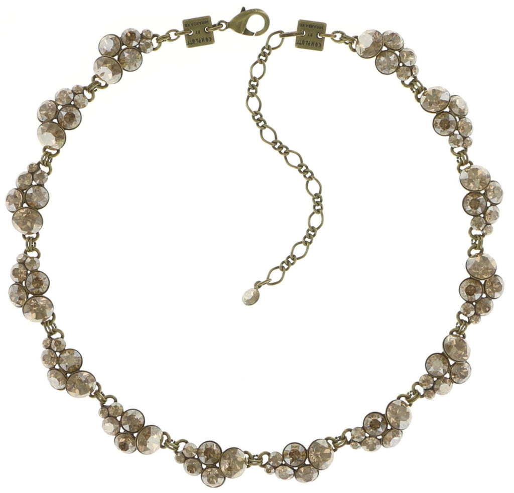 necklace collier Petit Glamour beige shiny brass