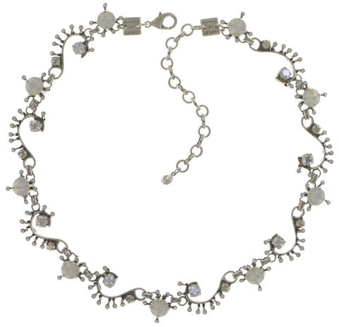 necklace Petit Four de Fleur white shiny silver