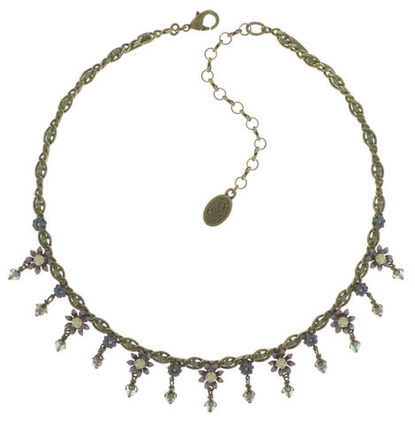 necklace Arsenic in Old Lace light pastel multi antique brass