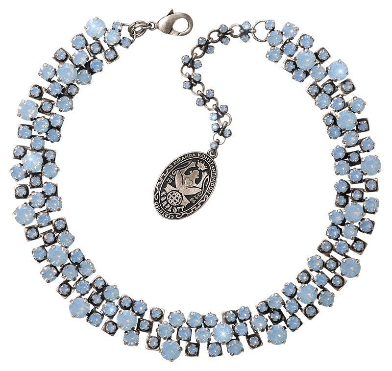 necklace Love Me Tender, Love Me Sweet blue antique silver