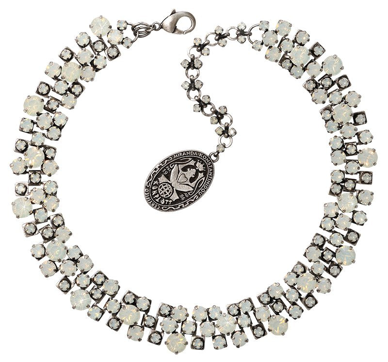 necklace Love Me Tender, Love Me Sweet white antique silver