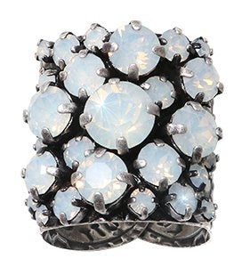 ring Ballroom white antique silver