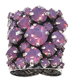 ring Ballroom dark pink antique silver