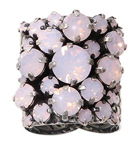 ring Ballroom pink antique silver