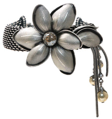 bracelet Blossoms of the Past beige antique silver