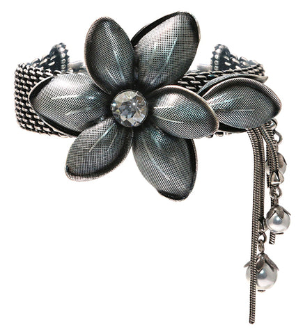 bracelet Blossoms of the Past blue antique silver