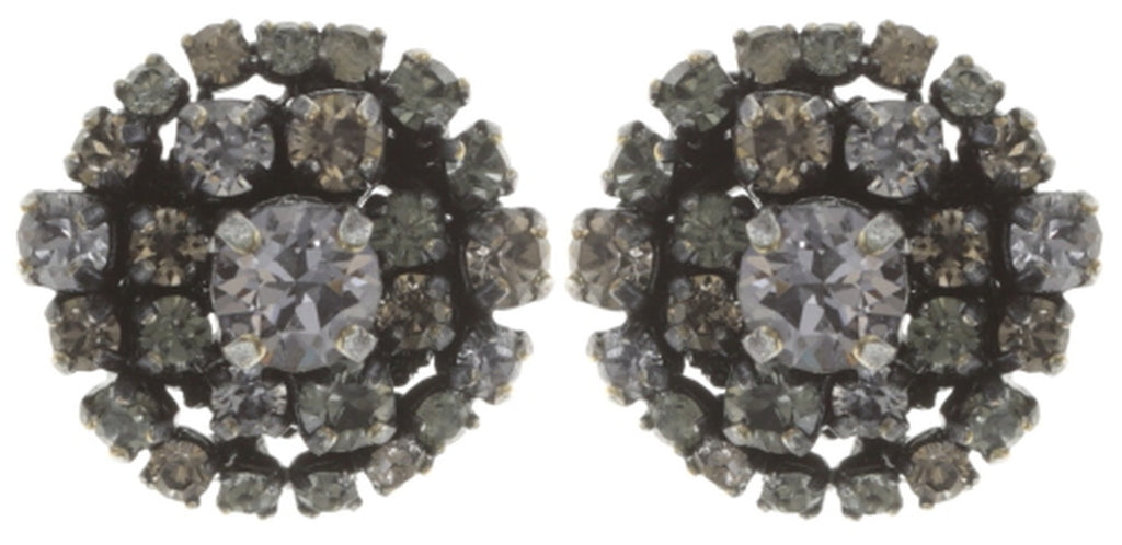 earring stud Ballroom grey antique silver