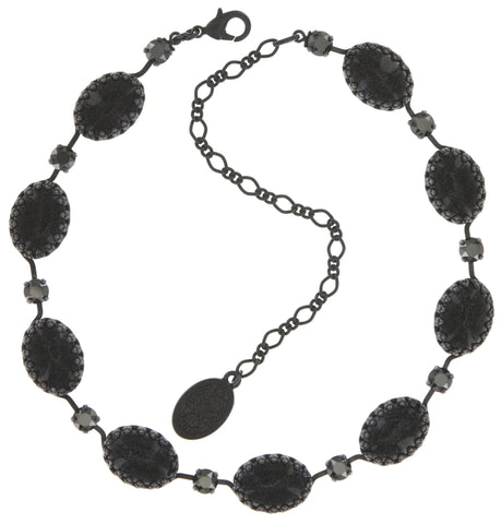 necklace Chinoiserie black Gun Metal
