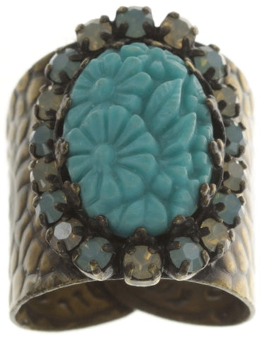 ring Victoria turquoise antique brass