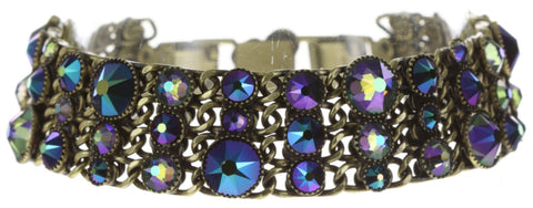 bracelet Waterfalls blue/lila antique brass
